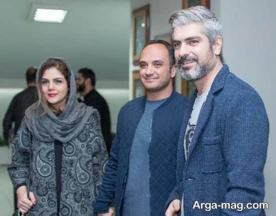 احسان کرمی و همسرش در کنار مهدی پاکدل