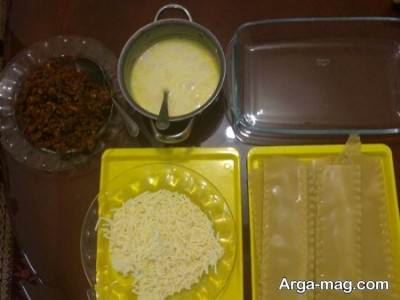 پخت لازانیا سبزیجات