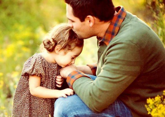 عکس عاشقانه پدر و دختر