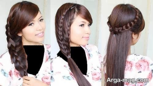 مدل مو باز همراه با بافت مو