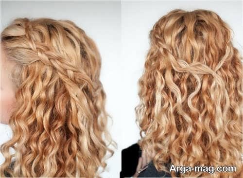 مدل موی بلند دخترانه مجلسی باز