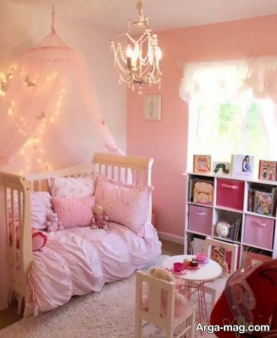 تزیین اتاق نوزاد دختر با طرح پرنسسی