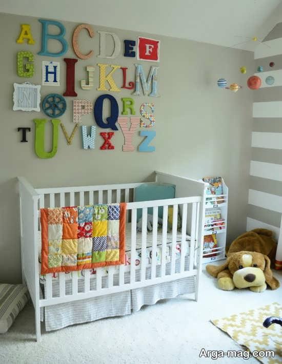 استفاده از حروف در تزیین اتاق نوزاد