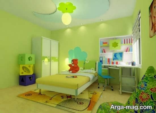 ست لوازم و دکوراسیون اتاق نوزاد با رنگ سبز
