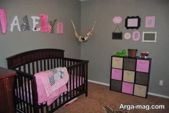 ترکیب رنگها در تزیین اتاق نوزاد دختر