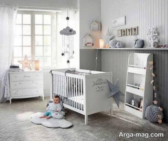 اتاق نوزاد با دکوراسیون متفاوت