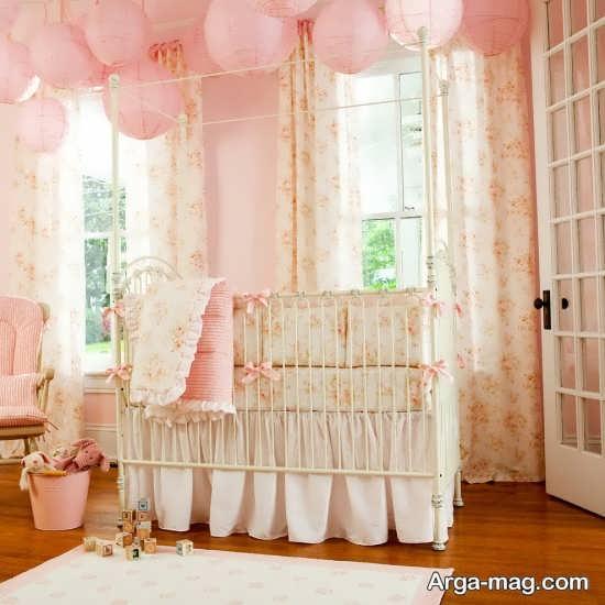 چیدمان متفاوت اتاق نوزاد دختر