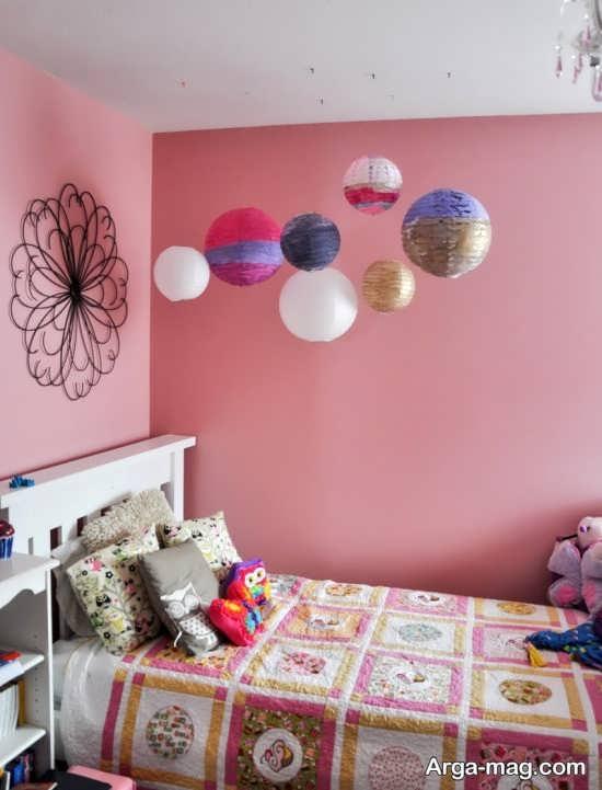 تزیین ساده اما زیبا اتاق کودک دختر