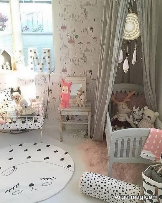 تزیین اتاق نوزاد دختر با طراحی به روز