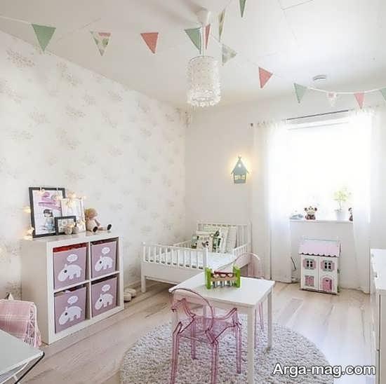 تزیین اتاق خواب نوزاد دختر با متد روز