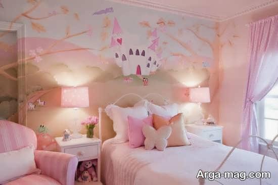 چیدمان و طراحی زیبا و متفاوت اتاق خواب دخترانه