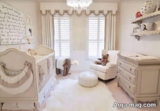 تزیین اتاق نوزاد دختر با طرح های متنوع