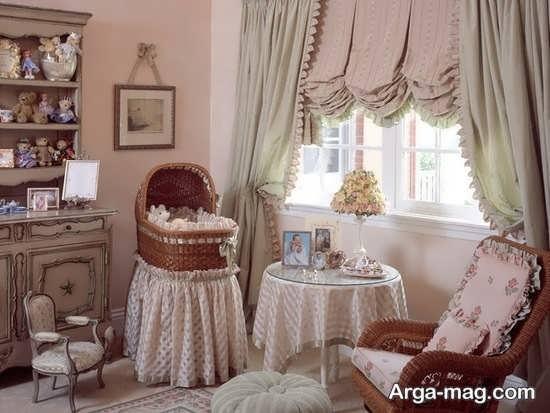 تزیین اتاق نوزاد دختر با متد اروپایی