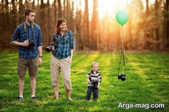 ژست های خانوادگی در طبیعت