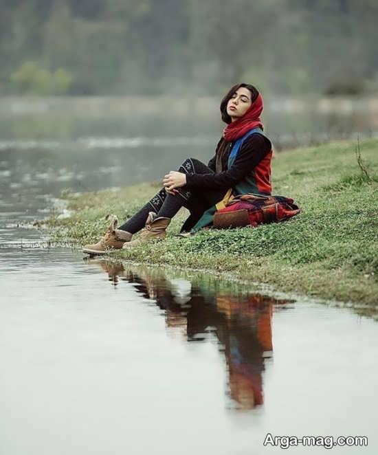 ژست زیبا در عکاسی در طبیعت