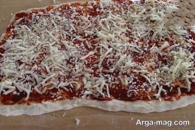 طرز تهیه پیتزا رولی
