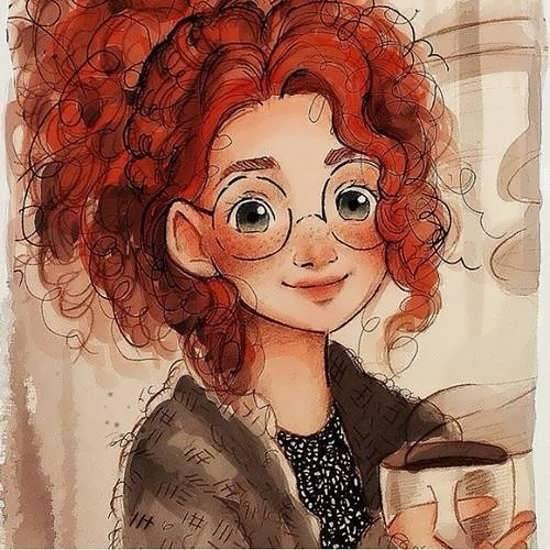 نقاشی لبخند دختر