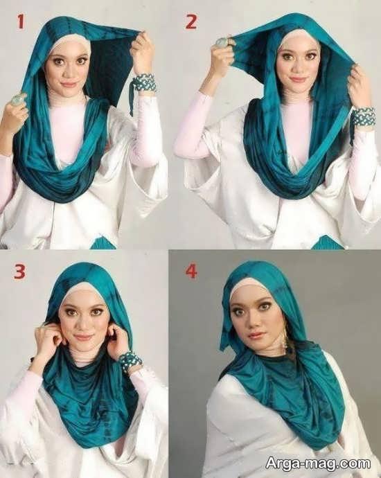 مدل بستن روسری زیبا و شیک