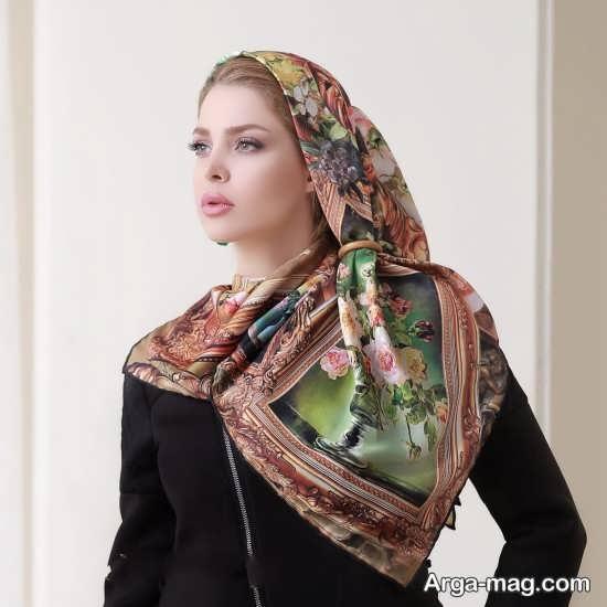روش بستن روسری ها مدل باز