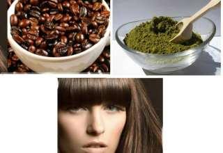 تقویت مو با حنا و قهوه