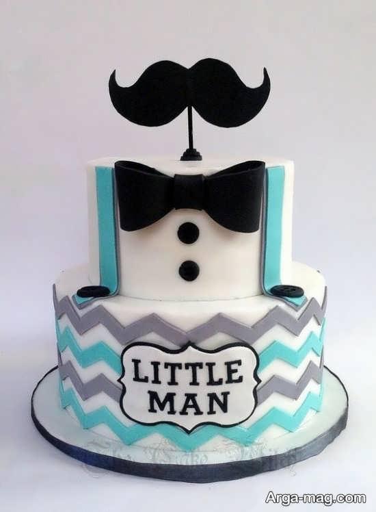 کیک تولد زیبا و متفاوت برای تولد با طرح سبیل