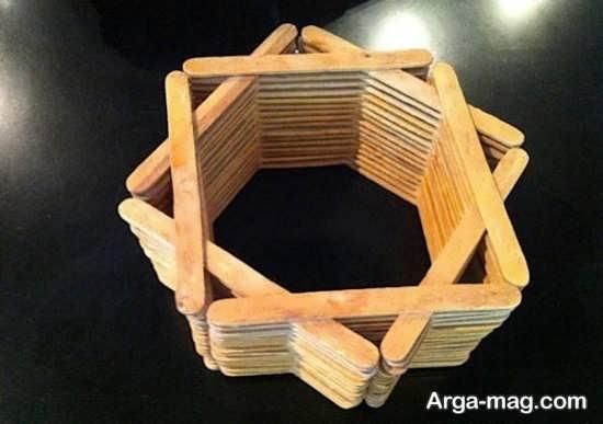 ساخت گلدان با چوب بستنی