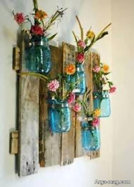 گلدان تزیینی با بطری