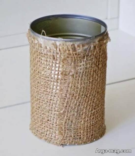 تزیین سطل آشغال با گونی