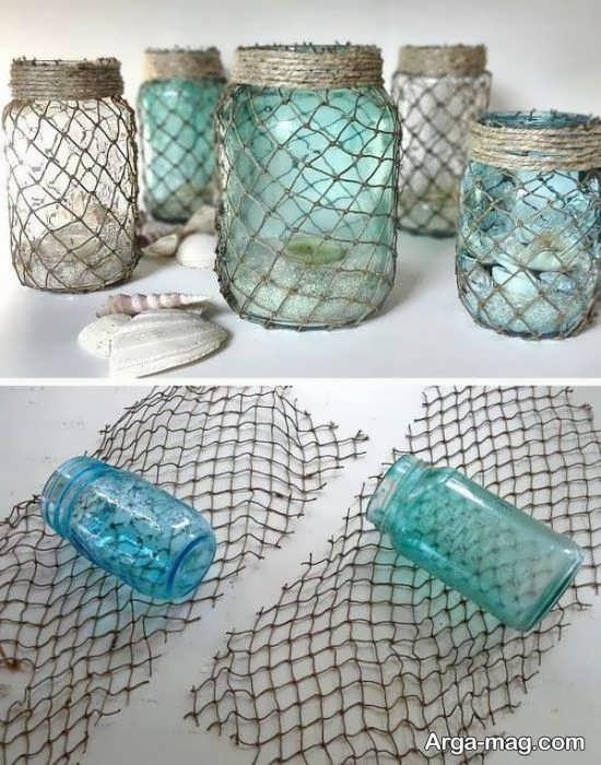 تزیین شیشه ها با تور