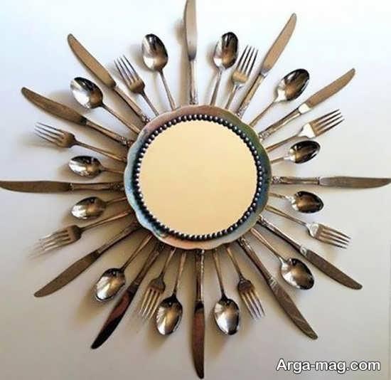 ساخت آیینه با چاقو و قاشق