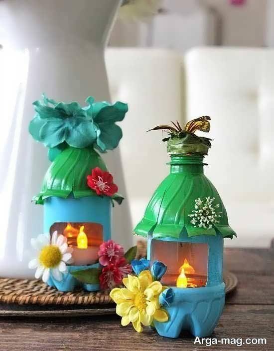 ساخت دکوری با بطری