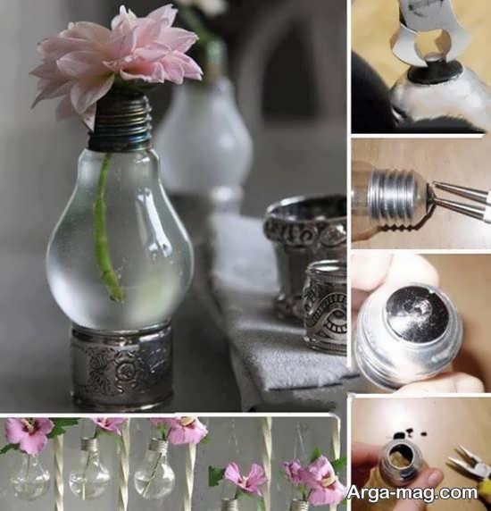 ساخت گلدان تزیینی برای آشپزخانه با لامپ