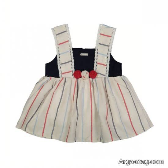 مدل سارافون نوزادی دورنگ
