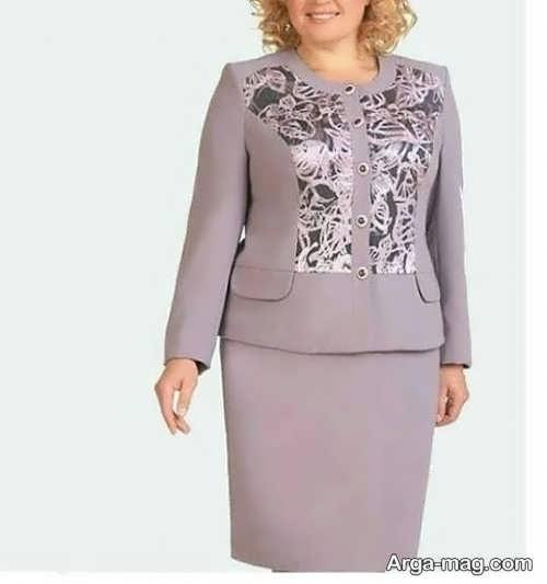 کت و دامن شیک برای خانم های میانسال