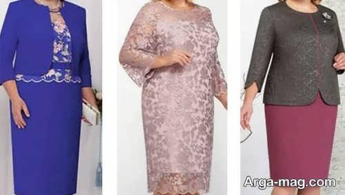 پیراهن شیک برای خانم های میانسال