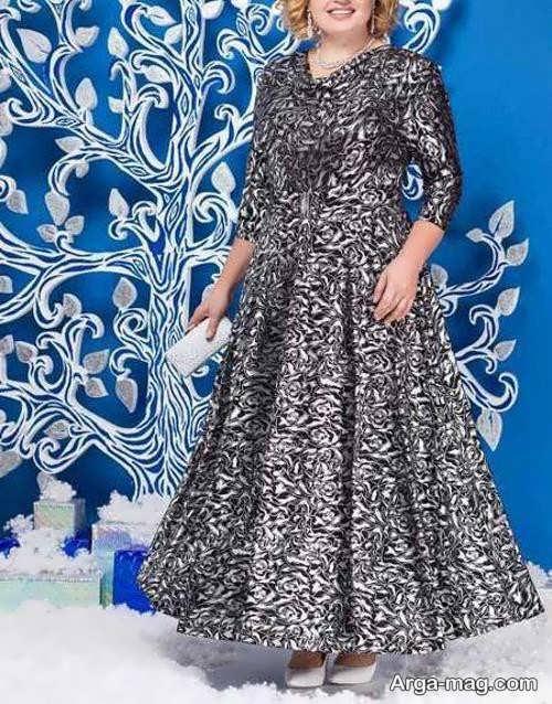لباس مجلسی برای خانم های میانسال در طرح شیک