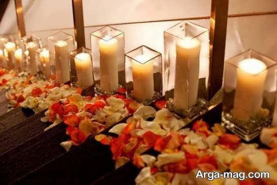 تزیین جذاب اتاق خواب با شمع