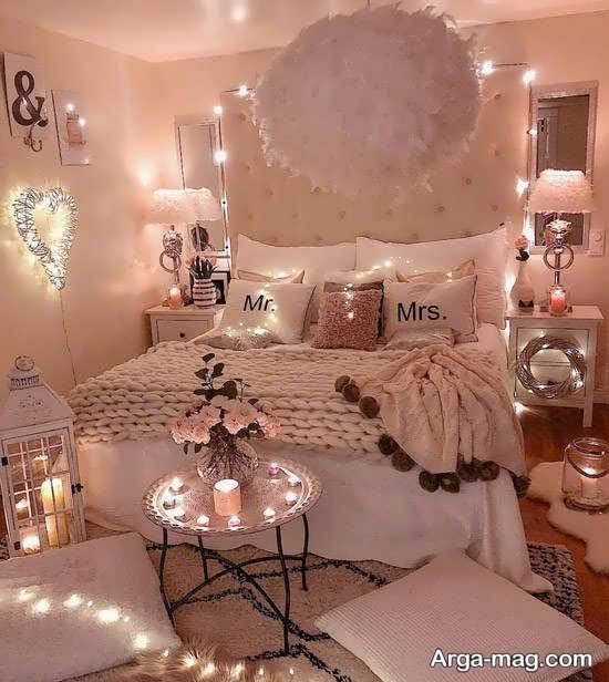 تزیین جدید اتاق خواب با شمع