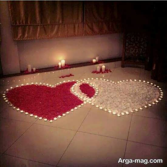 شمع آرایی اتاق خواب عروس