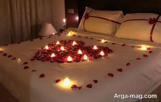تصاویر تزیین اتاق خواب با شمع