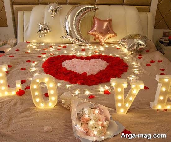 دیزاین اتاق خواب با شمع