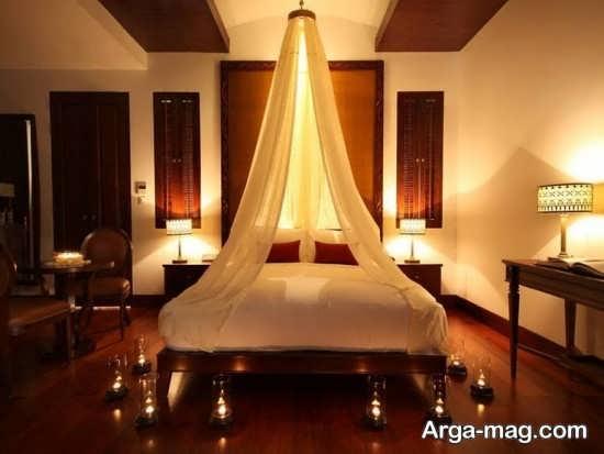 ایده هایی برای شمع آرایی در اتاق خواب