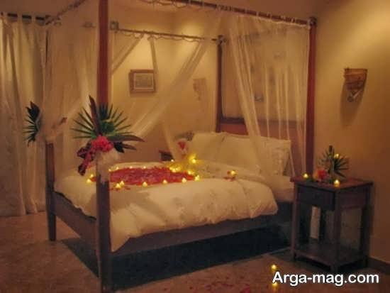 شمع آرایی زیبا و شیک در اتاق خواب