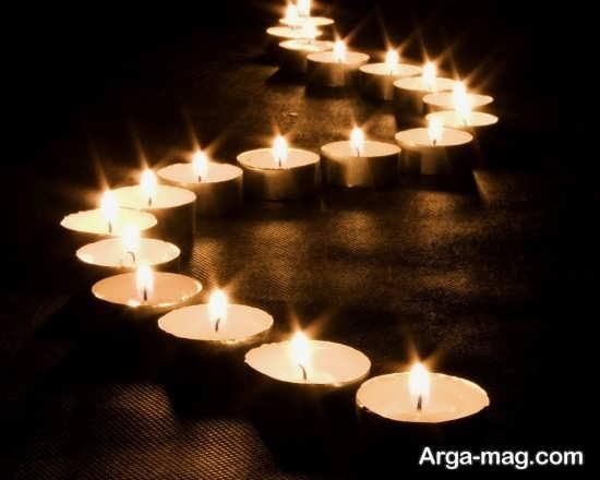 تزیین کف اتاق خواب با شمع های تزیینی