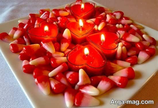 تزیین کف اتاق خواب با شمع های تزیینی و زیبا