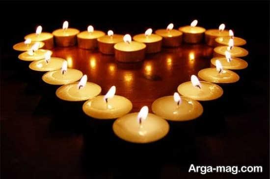 تزیین کف اتاق خواب با شمع