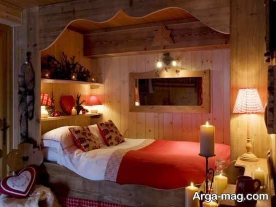 تزیین رمانتیک اتاق خواب با شمع