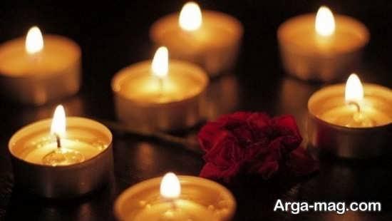 تزیین زیبا و جالب اتاق خواب با شمع های تزیینی و زیبا