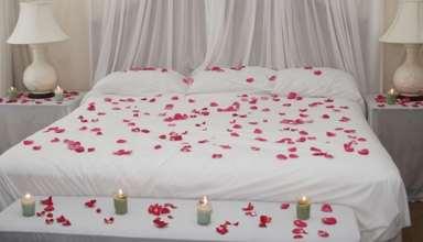 ایده هایی برای شمع آرایی اتاق خواب