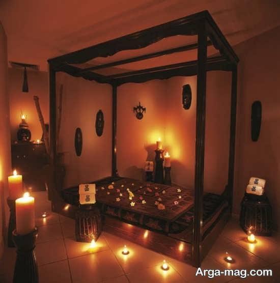 شمع آرایی اتاق خواب شیک